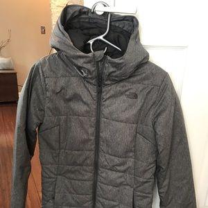 Women's Grey North Face winter coat/ski coat